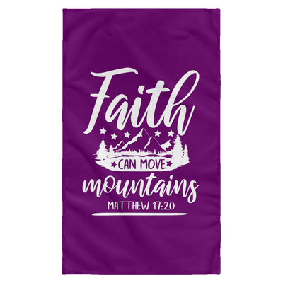 Faith Can Move Mountains Christian Wall Flag 3ft. x 5ft.