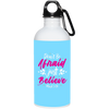 Believe Christian 20 oz. Stainless Steel White Water Bottle