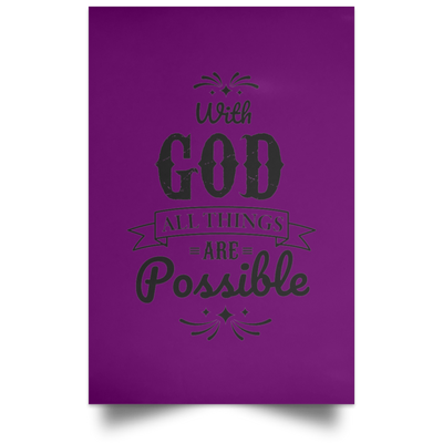 With God Christian Satin Portrait Poster