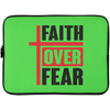 Faith Over Fear Christian Laptop Sleeve - 15 Inch