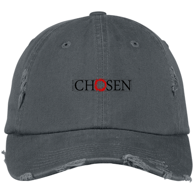 Chosen Embroidered Christian Distressed Fishing Hat