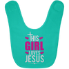 This Girl Loves Jesus Christian Baby Bib