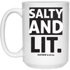 Salty & Lit Christian 15 oz. White Mug