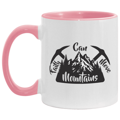 Faith Can Move Mountains Christian Accent Mug