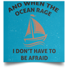 When The Ocean Rage Christian Satin Square Poster