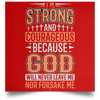 I'm Strong Christian Satin Square Poster