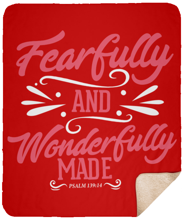 Fearfully & Wonderfully Made Christian Sherpa Blanket - 50x60