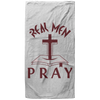 Real Men Pray Christian Oversized Beach Towel - 37x74