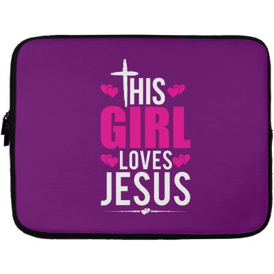 This Girl Loves Jesus Christian Laptop Sleeve - 13 inch