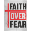 Faith Over Fear Christian Arctic Fleece Blanket 60x80