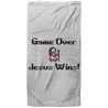 Game Over Jesus Wins Christian Oversized Beach Towel - 37x74