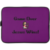Game Over Jesus Wins Christian Laptop Sleeve - 15 Inch