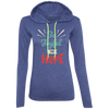 Be Joyful In Hope Christian Ladies Hooded Long Sleeve Shirt
