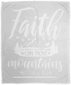 Faith Can Move Mountains Christian Cozy Plush Fleece Blanket - 50x60