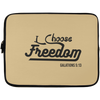 I Choose Freedom Christian Laptop Sleeve - 13 inch