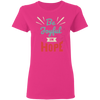 Be Joyful In Hope Christian Ladies' T-Shirt