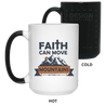 Faith Can Move Mountains Christian 15 oz. Color Changing Mug