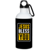 Jesus Bless You Christian 20 oz. Stainless Steel White Water Bottle