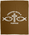 Created With Purpose Christian Cozy Plush Fleece Blanket - 50x60