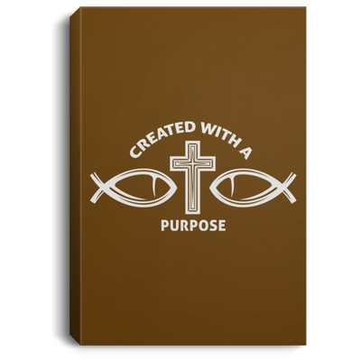 Created With Purpose Christian Portrait Canvas .75in Frame