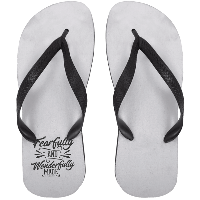 Fearfully & Wonderfully Made Christian Adult Flip Flops