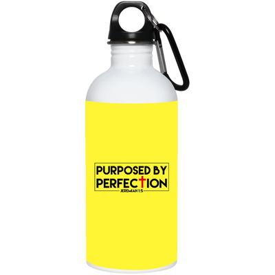 Purposed Christian 20 oz. Stainless Steel White Water Bottle