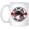 For God & Country Christian 11 oz. White Mug
