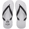 With God Christain Adult Flip Flops