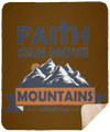 Faith Can Move Mountains Christian Sherpa Blanket - 50x60