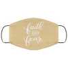 Faith Over Fear Christian Face Mask