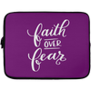Faith Over Fear Christian Laptop Sleeve - 13 inch