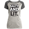 Salty And Lit Christian Ladies Performance T-Shirt