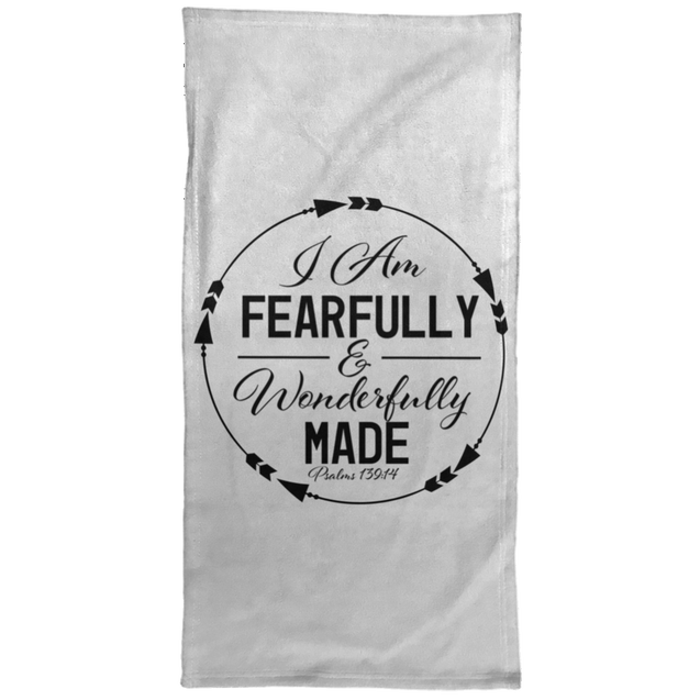 Fearfully & Wonderfully Made Christian Towel - 15x30