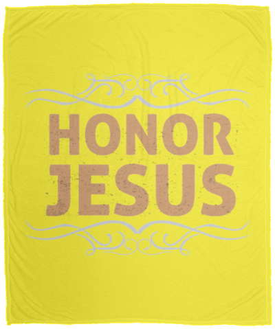 Honor Jesus Christian Cozy Plush Fleece Blanket - 50x60