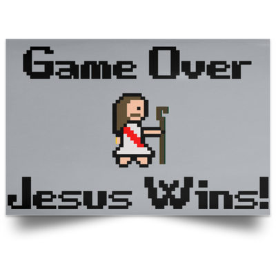 Game Over Christian Satin Landscape Poster