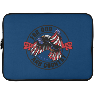 For God & Country Christian Laptop Sleeve - 15 Inch
