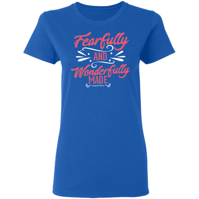 Wonderfully Made Christian Ladies' T-Shirt