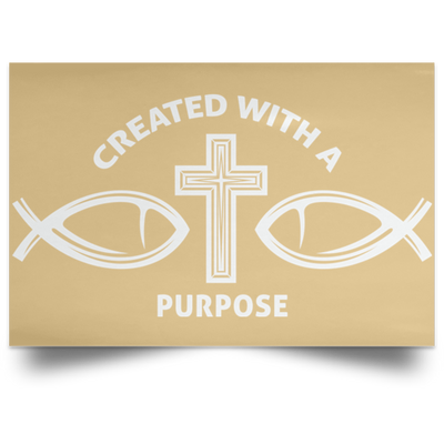 Created With Purpose Christian Satin Landscape Poster