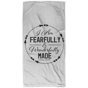 Fearfully & Wonderfully Made Christian Beach Towel - 32x64