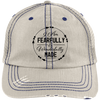Wonderfully Made Embroidered Christian Distressed Trucker Hat Style 1