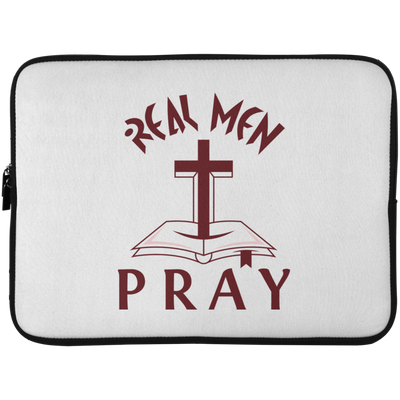 Real Men Pray Christian Laptop Sleeve - 15 Inch