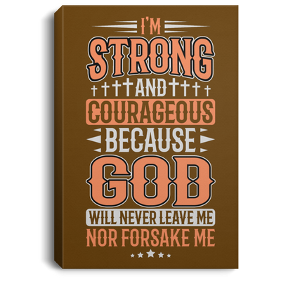I'm Strong Christian Portrait Canvas .75in Frame