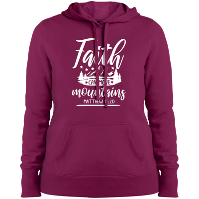 Faith Moves Mountains Christian Pullover Hoodie