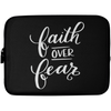 Faith Over FearChristian Laptop Sleeve - 10 inch