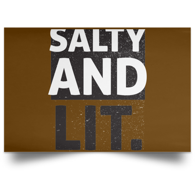 Salty And Lit Christian Satin Landscape Poster