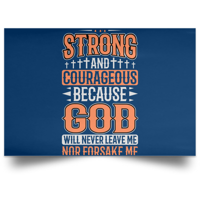 I'm Strong Christian Satin Landscape Poster