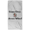 Game Over Jesus Wins Christian Beach Towel - 32x64