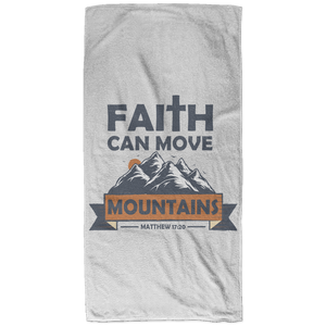 Faith Can Move Mountains Christian Beach Towel - 32x64