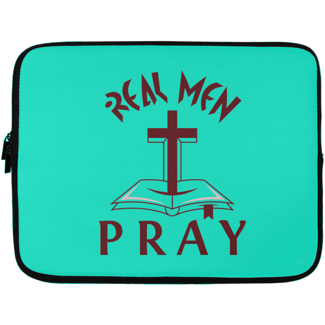 Real Men Pray Christian Laptop Sleeve - 13 inch