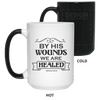 By His Wounds Christian 15 oz. Color Changing Mug